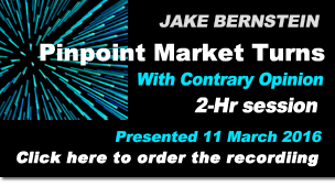Jake Bernstein |  Pinpoint Market Turns With Contrary Opinion